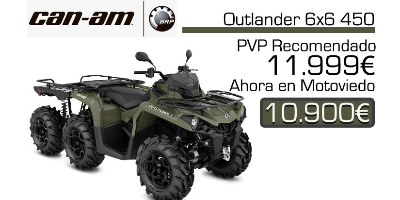Oferta y precio quad 6x6 de canam outlander 450