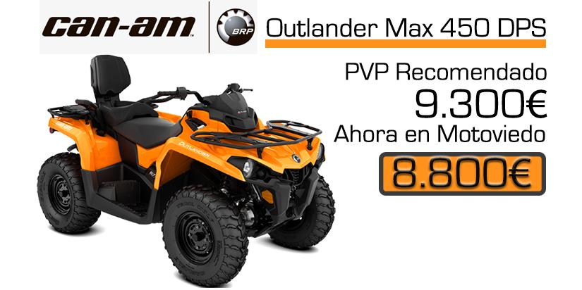 Oferta especial quad canam outlander 450 dps