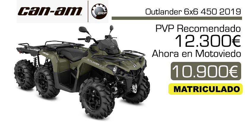 Oferta y precio quad outlander 6x6 450