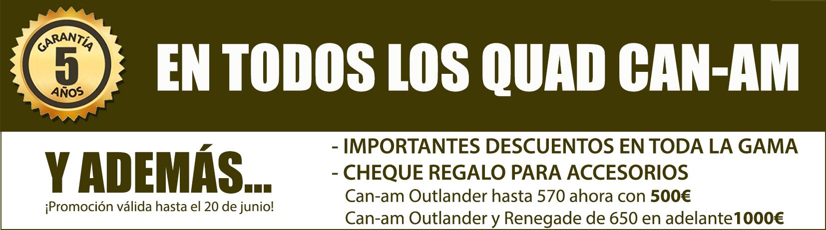 Oferta y promocion de quad can-am en asturias